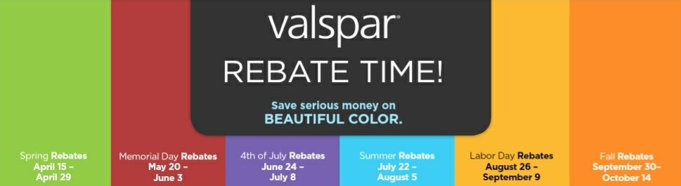 Valspar 2018 Rebate Dates